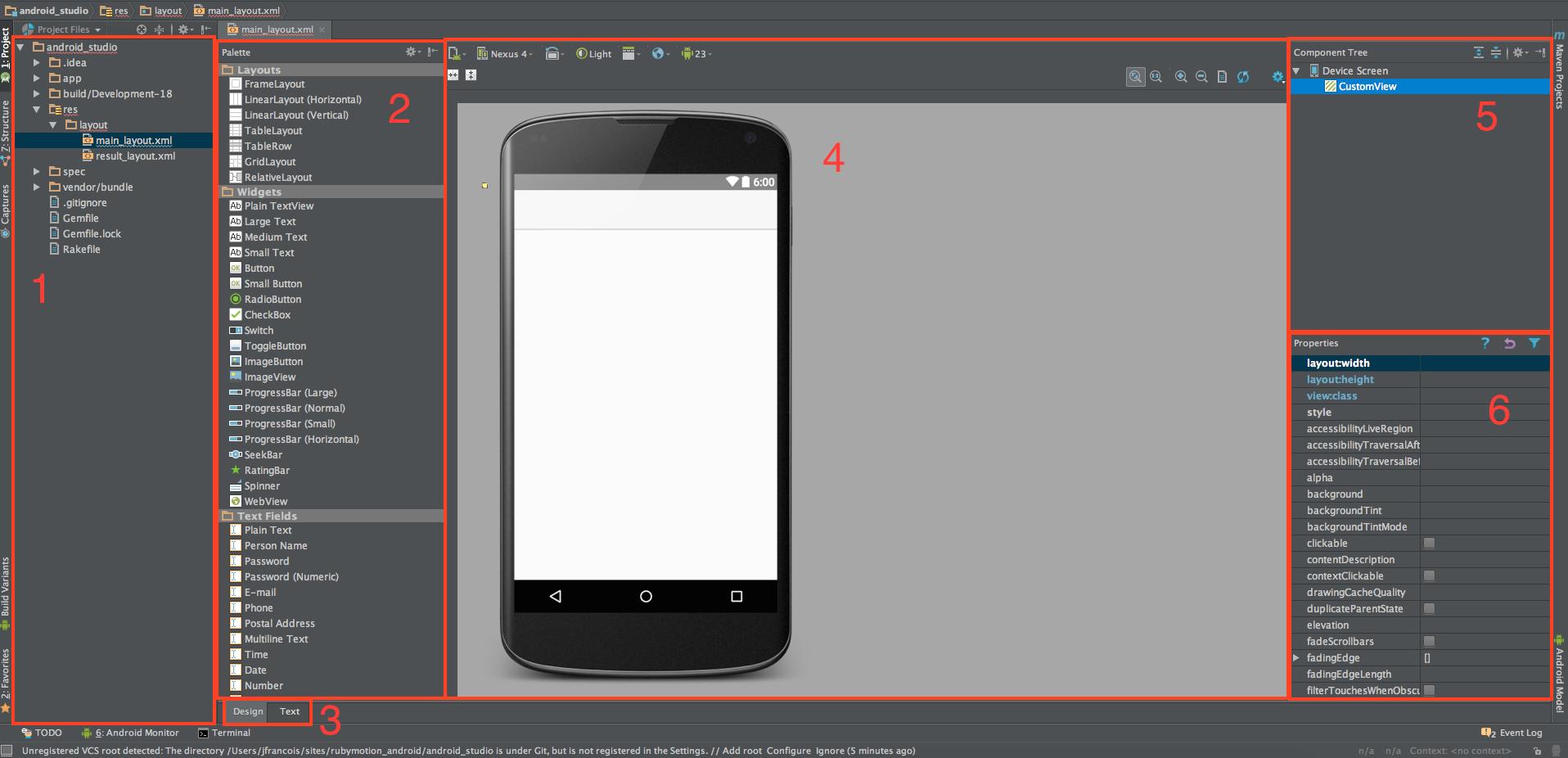 Android Studio xml