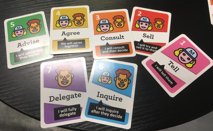Cartes pour le delegation poker