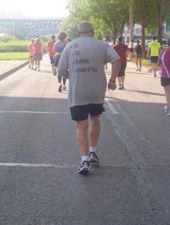 malade qui court le marathon