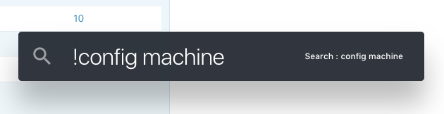 Search : config machine