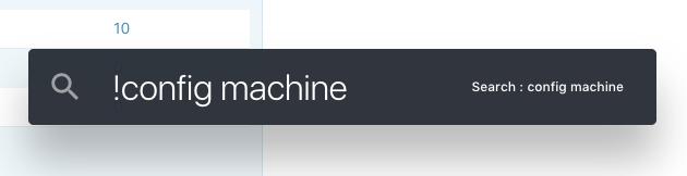 Search: config machine