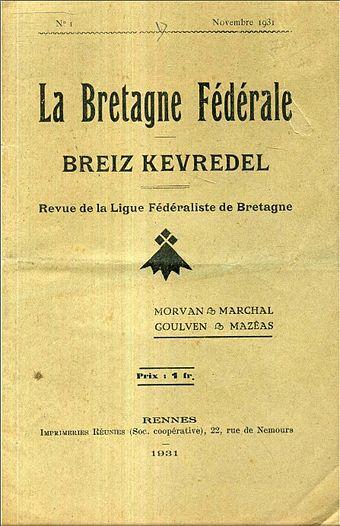 La Bretagne Fédérale - novembre 1931