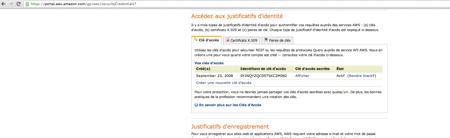 Clés Amazon Web Services