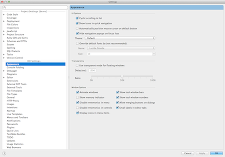Configuration de RubyMine