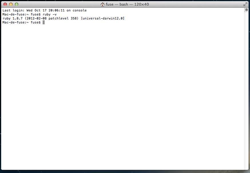 Installer Ruby On Rails Sur Mac